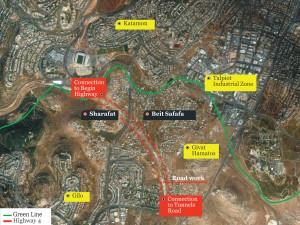 Beit Safafa planned highway